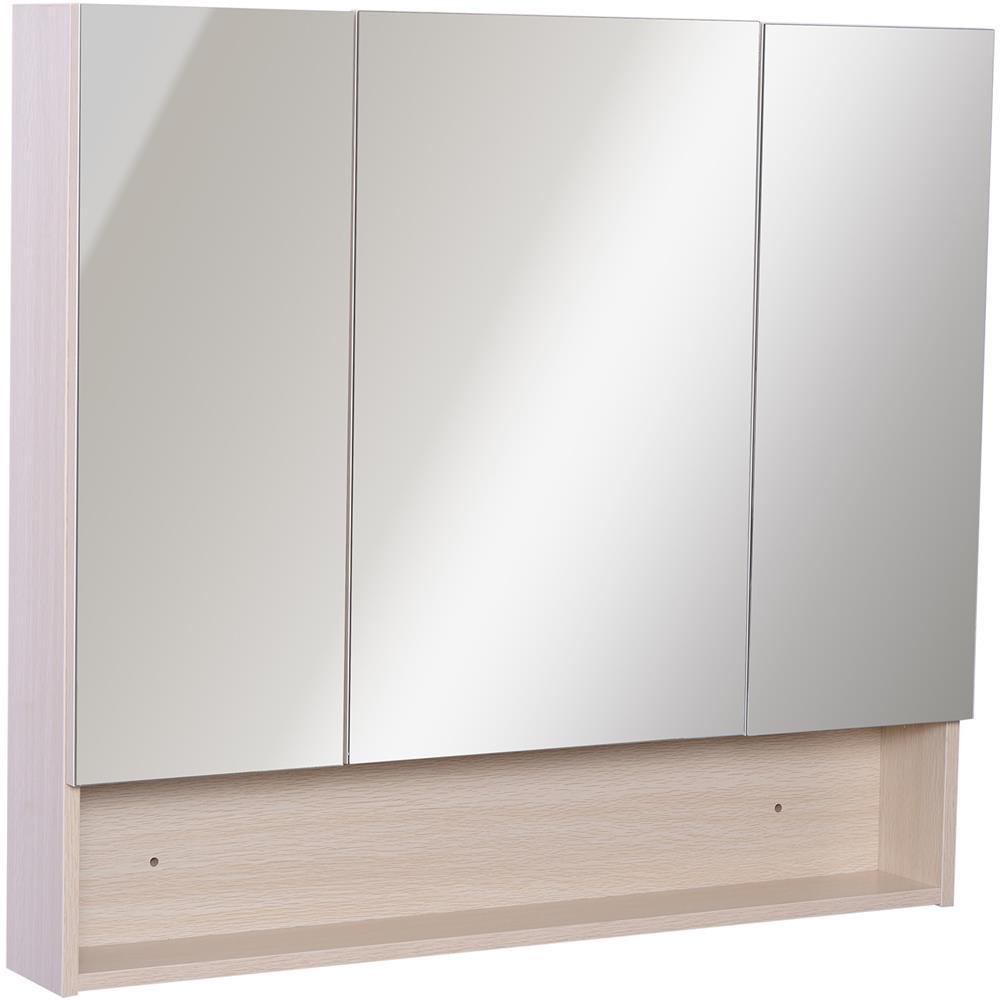 Specchio Bagno Con Ante.Kleankin Armadietto Pensile Da Bagno Con 3 Ante Specchio In