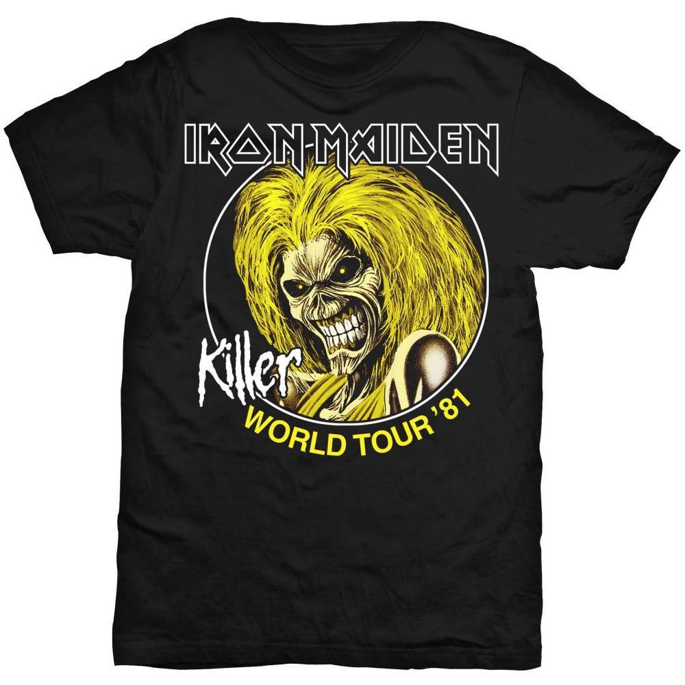 Iron Maiden - Killer World Tour 81 (T-Shirt Unisex Tg. XL)