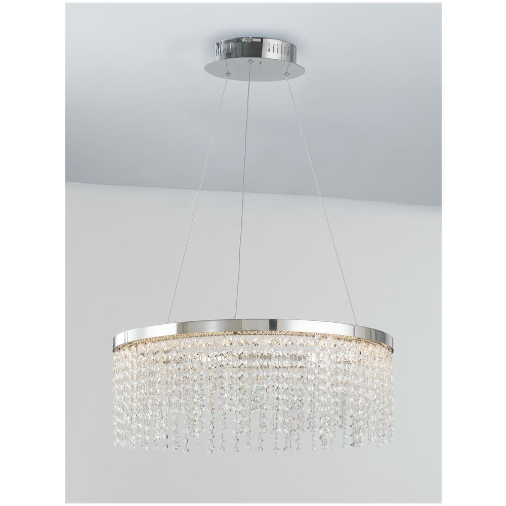 Lampadario Con Strisce Led gt luce led-venus-s60 - lampadario classico con cristalli e luci led 45 watt
