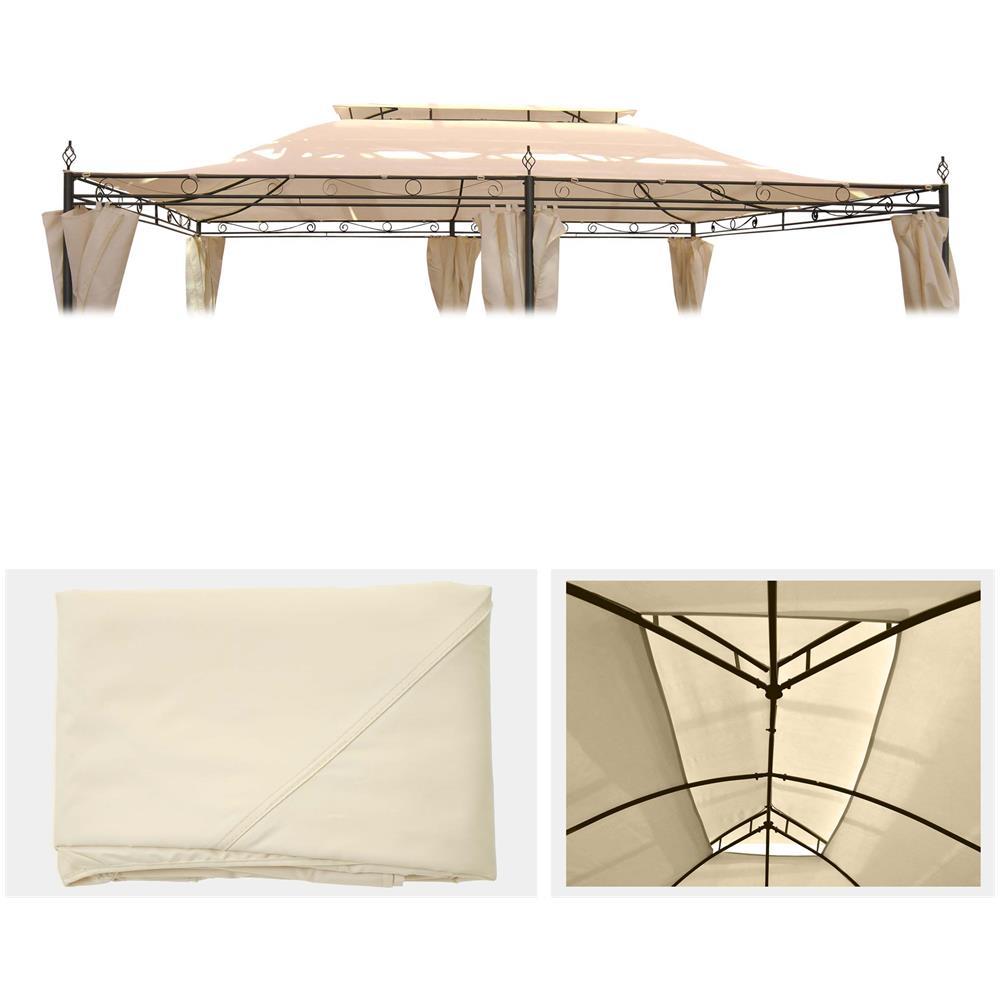 Vecchio Materiale Da Copertura mendler telo di ricambio copertura tetto per gazebo mecina poliestere  295x395cm avorio