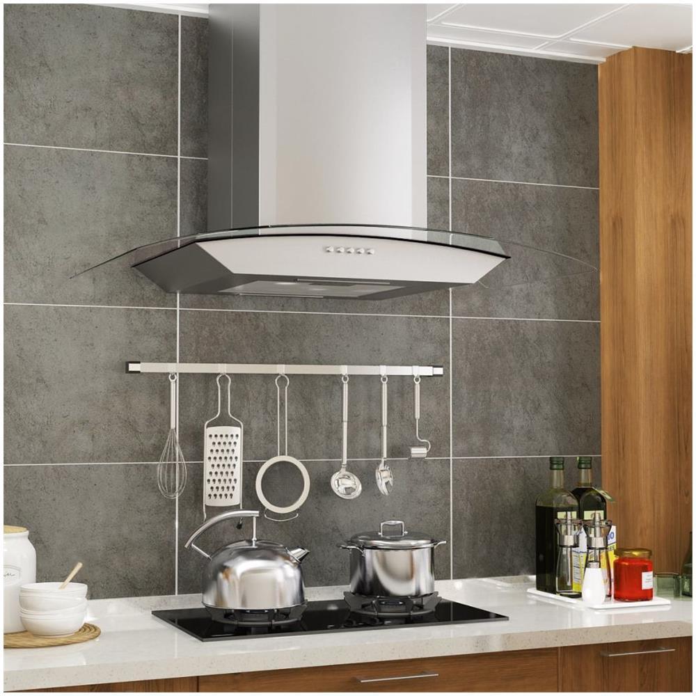 Tubo Per Cappa Cucina Design vidaxl cappa aspirante a muro 60 cm acciaio inossidabile 756 m³ / h led