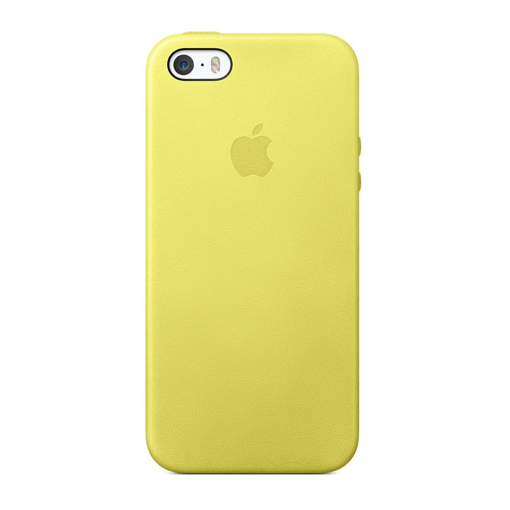incontrare 9d74c 06c12 APPLE Custodia in pelle per iPhone 5s - Colore giallo