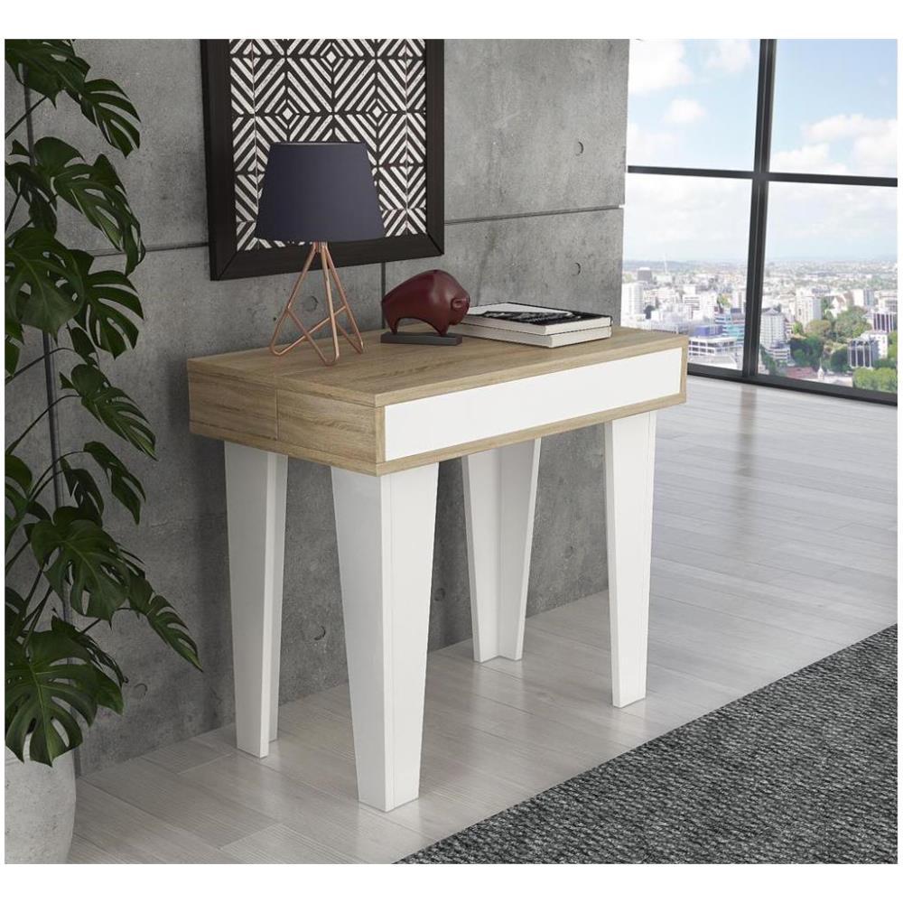 Tavolo Allungabile Per 14 Persone.Comfort Home Innovation Tavolo Consolle Nordic Kl Da Pranzo E
