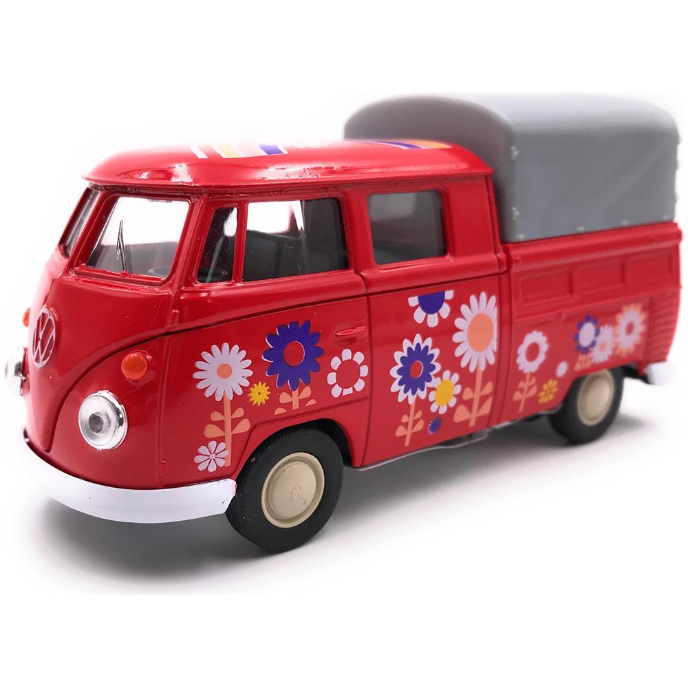 Onwomania Auto Onwomania Modello Vw Bulli T1 Bus Flatbed Fiori Macchina Rossa Mst 1 34 39 Eprice