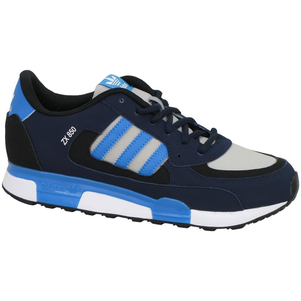 lowest price d1d10 aa4b7 Adidas Zx 850 K Scarpe Bambino Blu Pelle Tela M19734 37,5
