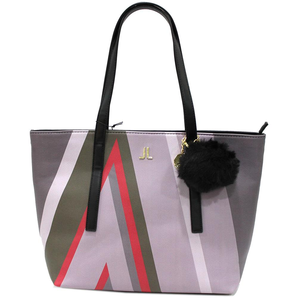 b677c40d3a LANCETTI - Borsa Donna Similpelle Modello Shopping A Spalla Con Pon Pon  7508 Nero - ePRICE