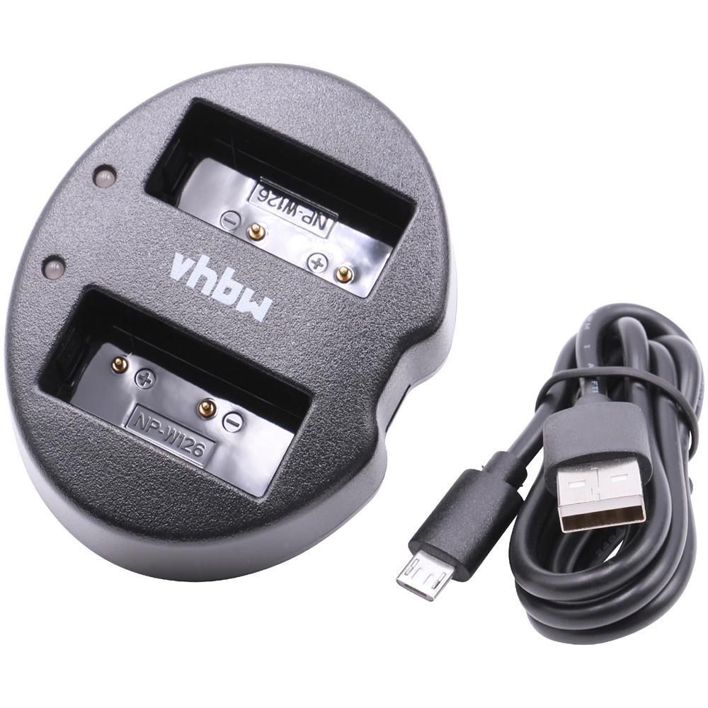 vhbw Caricabatterie Duale Cavo Micro usb Per Batteria
