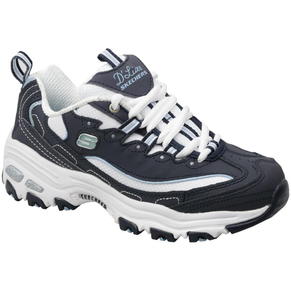 Skechers D'lites Biggest Fan 11930 nvw, Donna, Blu, Sneakers, Numero: 36 Eu
