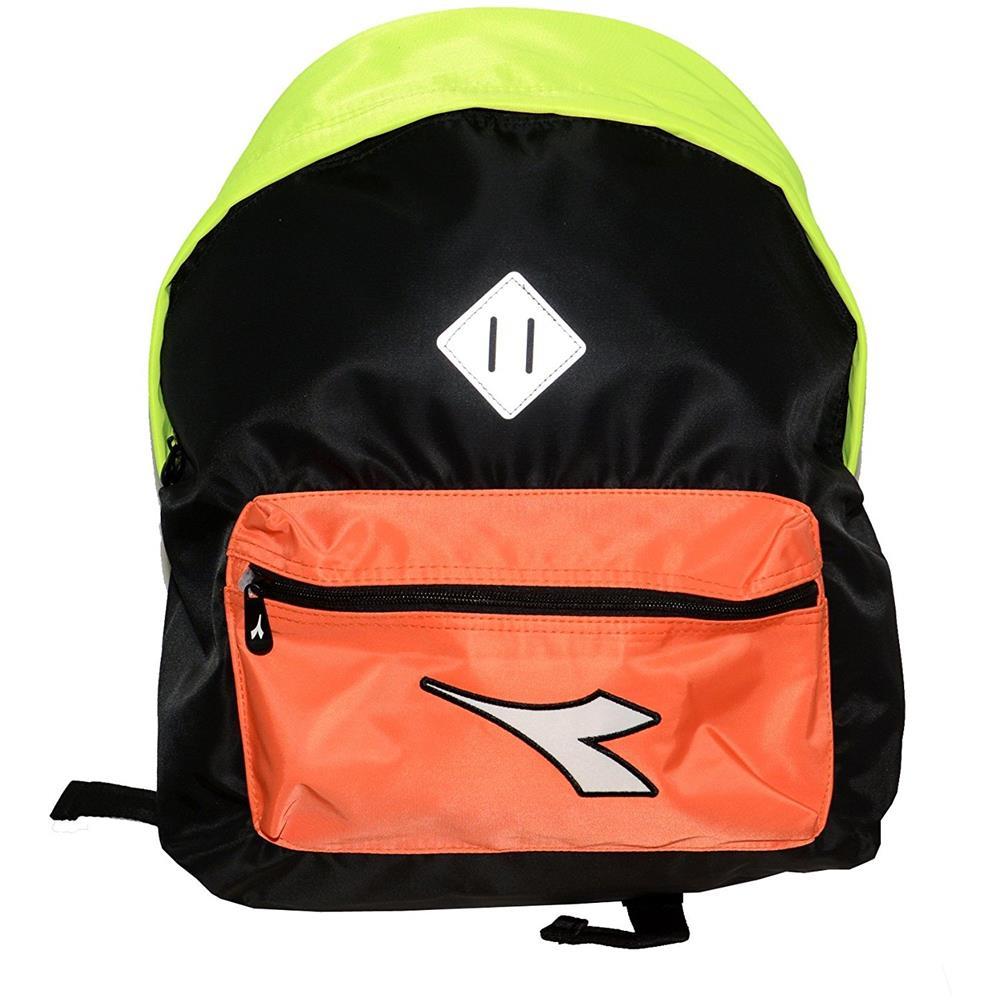30d1336245 Diadora - Zaino Solid Color Nero / giallo / arancio - ePRICE