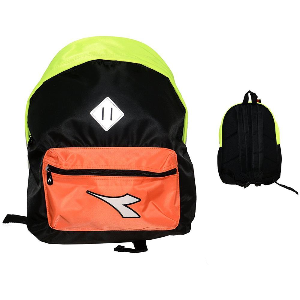 47130dfeb7 Diadora - Zaino Solid Color Nero / giallo / arancio - ePRICE