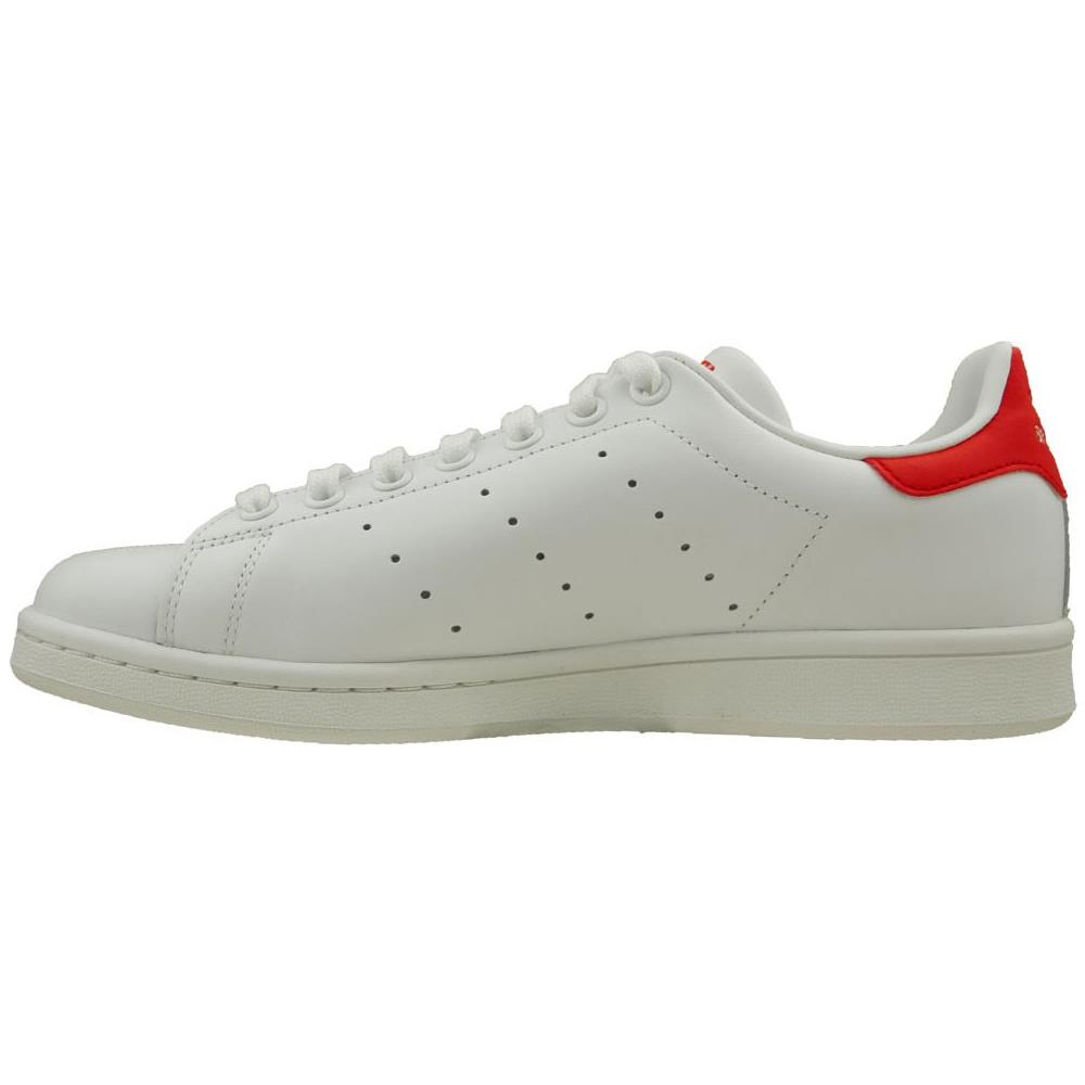 d899eefacdd3a Adidas - Stan Smith Scarpe Sportive Donna Bianche Rosse M20326 38 ...