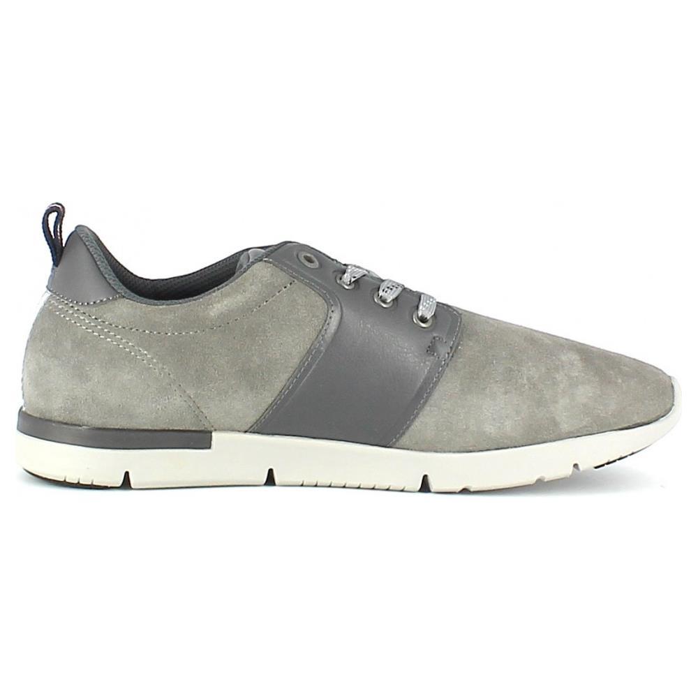 Scarpe sneakers Tommy Hilfiger da uomo in pelle scamosciata grigia P//E 2019