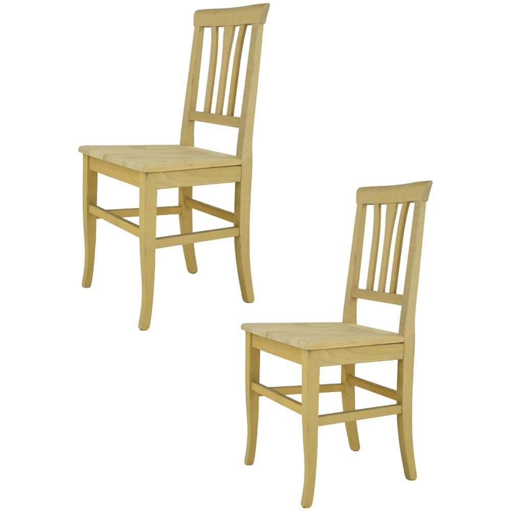Tommychairs Sedie Di Design - Set 2 Sedie Classiche Aurora Per Cucina, Bar  E Sala Da Pranzo, Robusta Struttura In Legno Di Faggio Levigato, Non ...