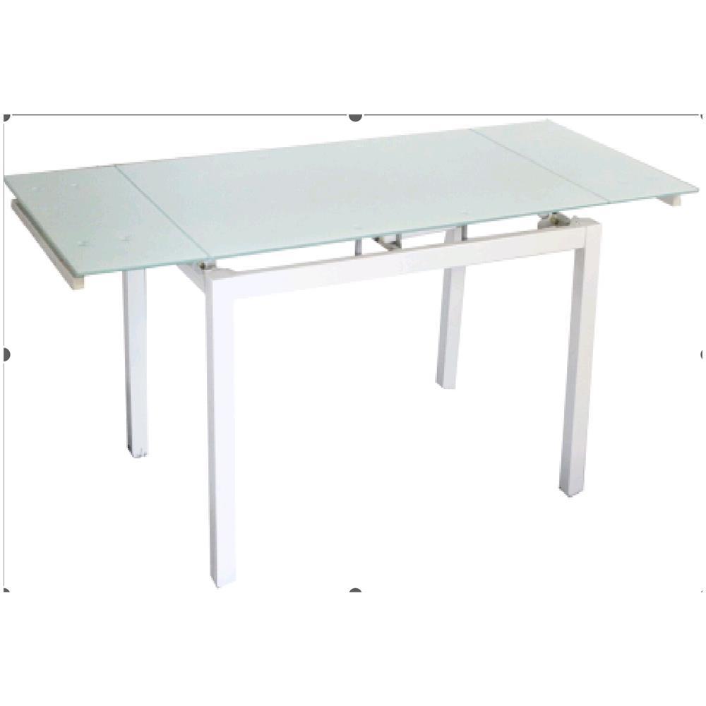Tavolo Allungabile In Alluminio.Homeandgarden Tavolo Allungabile In Alluminio Con Base In Vetro