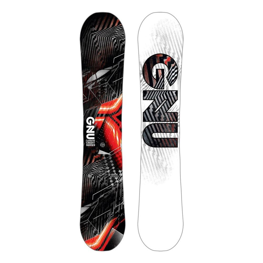 Gnu Tavola Snowboard Uomo Credit Taglia: 153 Colore: Nero Rosso