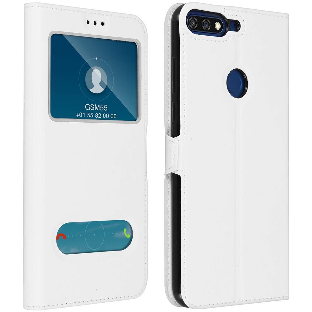 San Francisco 2f7b1 c9a23 Avizar Custodia Honor 7a / Huawei Y6 2018 2x Finestre Cover Silicone Gel -  Bianca