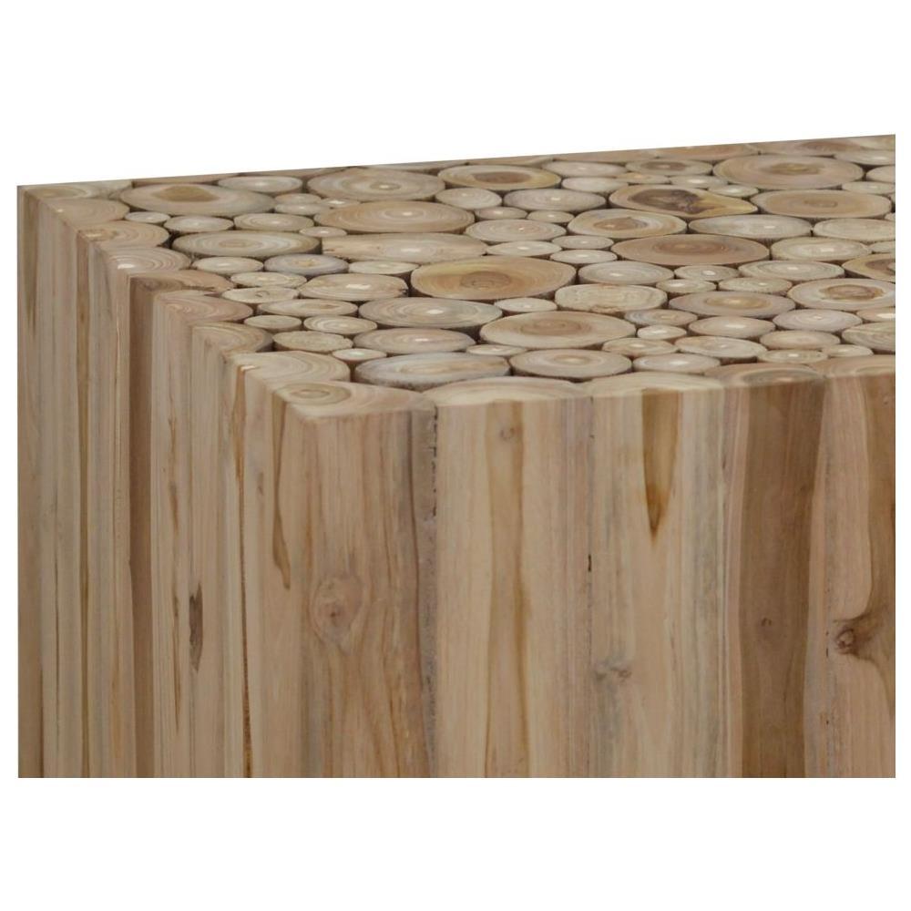 Ceppo Di Legno Tavolino vidaxl tavolino da caffè in autentico legno di teak 50x50x35 cm