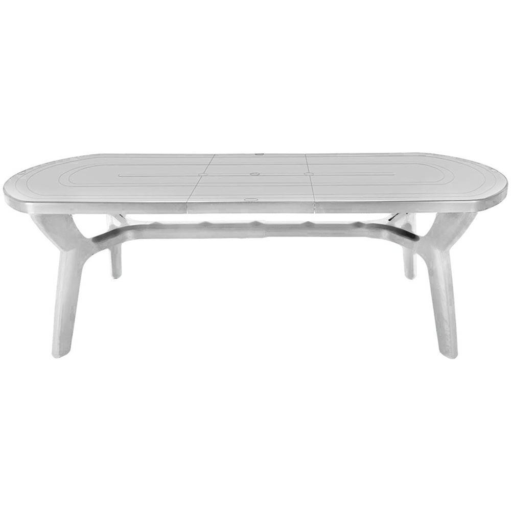 Tavolo Da Giardino Bianco.Gbshop Tavolo Da Giardino Allungabile In Plastica Resina Bianco 180 230 Cm