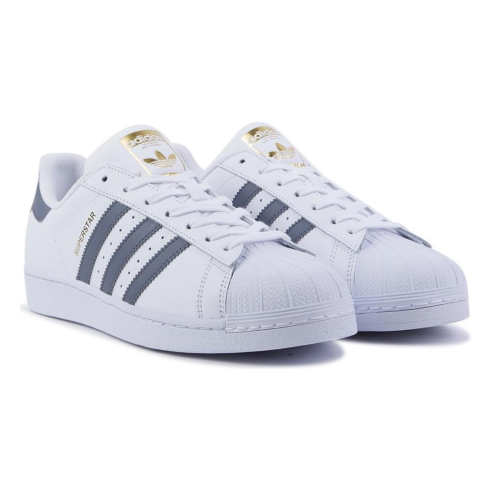 factory authentic ac263 472df adidas - Scarpe Sneakers Superstar Foundation Originals - Bianco Grigio Uk  10.5 - ePRICE