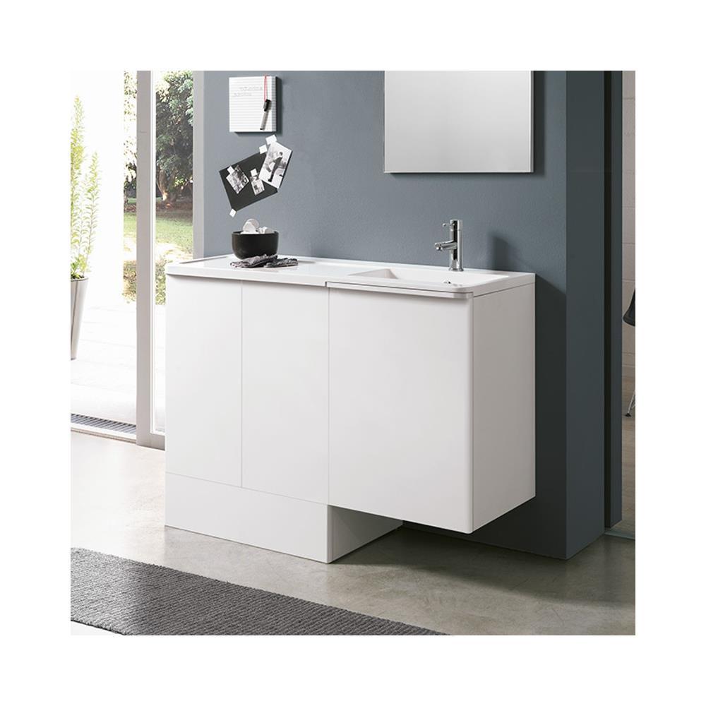 Mobile Lavello E Lavatrice geromin arredamenti geromin round rn14db lavatoio e base coprilavatrice,  destro, bianco
