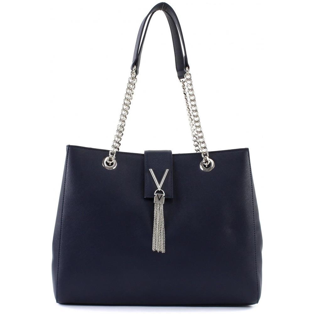VALENTINO BY MARIO VALENTINO - Borsa Donna Shopping Valentino By M.  valentino Mod. Divina 3 Comparti Blu Bs18va246 - ePRICE e8c4f5ca098