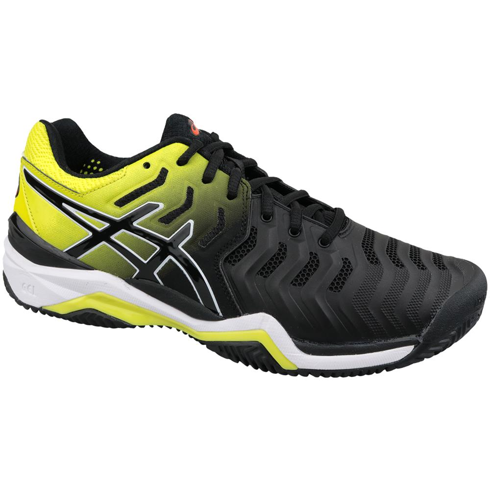 Asics Gel resolution 7 Clay E702y 003, Uomo, Nero, Scarpe Da Tennis, Numero: 47 Eu