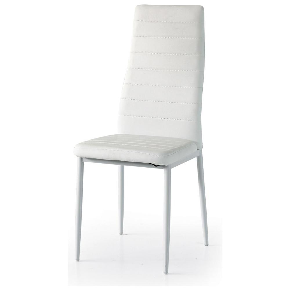 Storm - Set 6 sedie baud gambe metallo bianco seduta schienale ...
