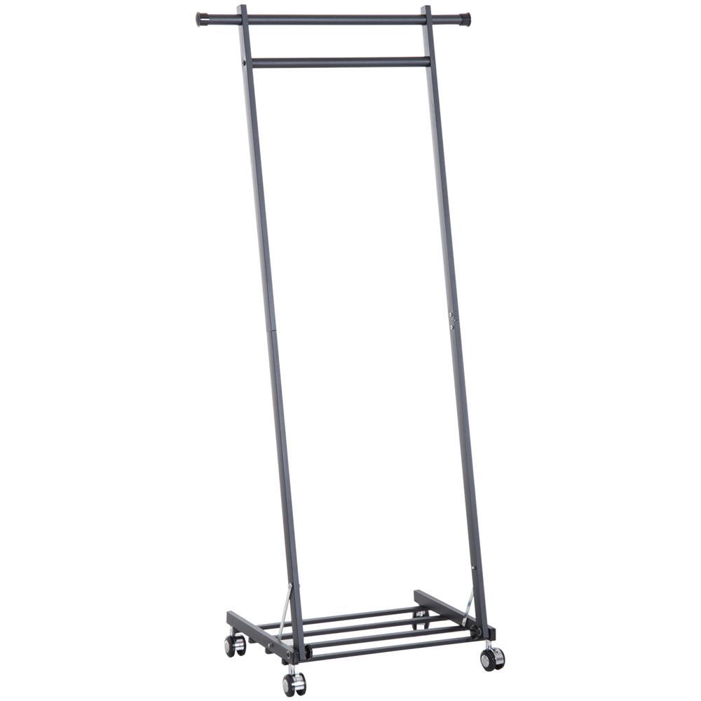 Stand Appendiabiti.Homcom Stand Appendiabiti Con Ripiano In Metallo Nero