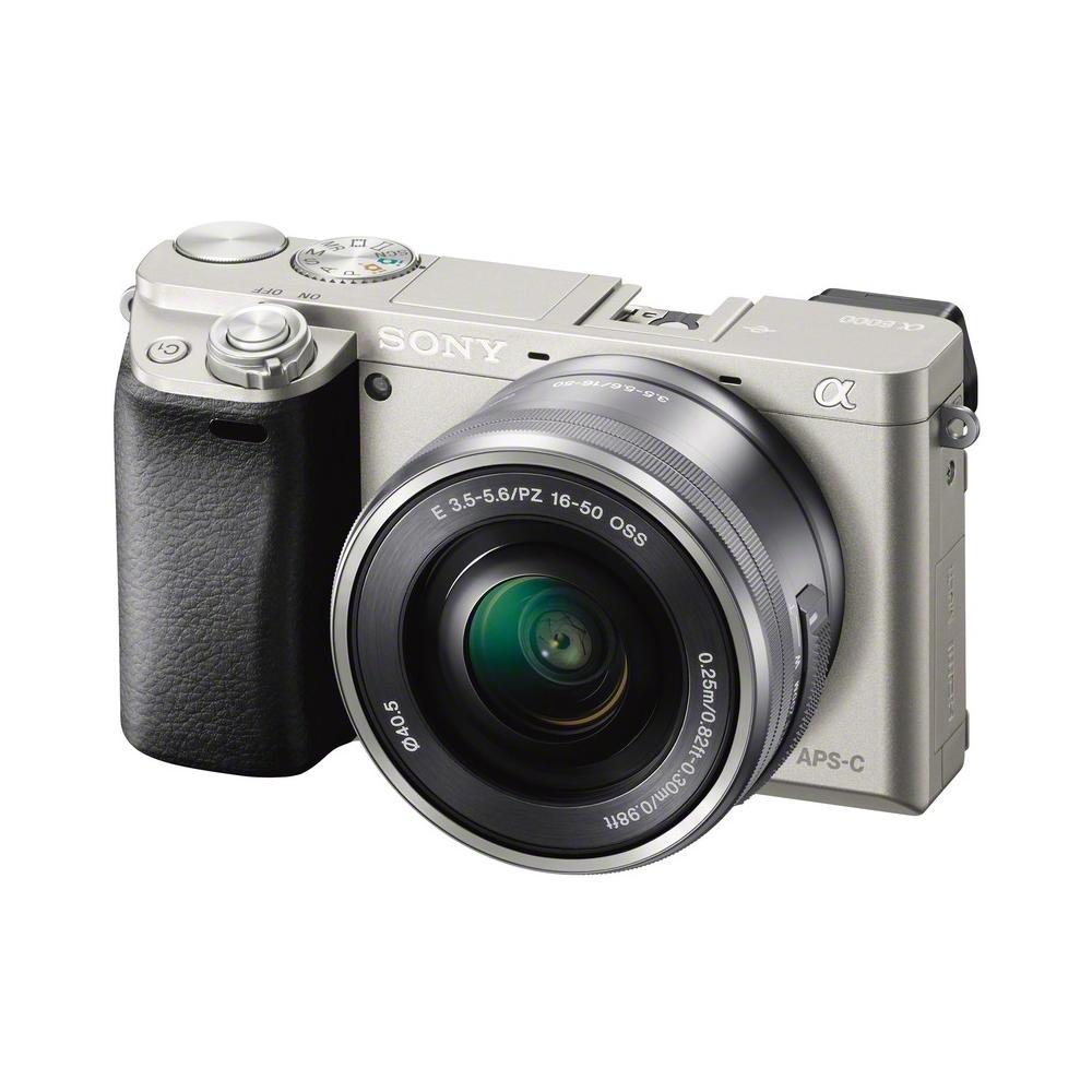 Alpha 6000 Silver kit 16-50 mm Sensore CMOS Exmor 24 Mpx Display Filmati Full HD Wi-Fi NFC