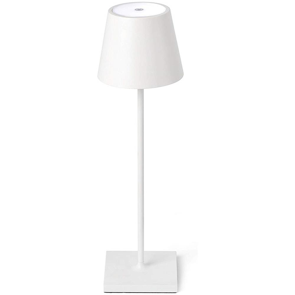 Ai Lati Lights Lampada Da Tavolo A Led Poldina Ricaricabile Potenza 2 2 Watt Luce Calda 3000 K Ip54 Colore Bianco Eprice