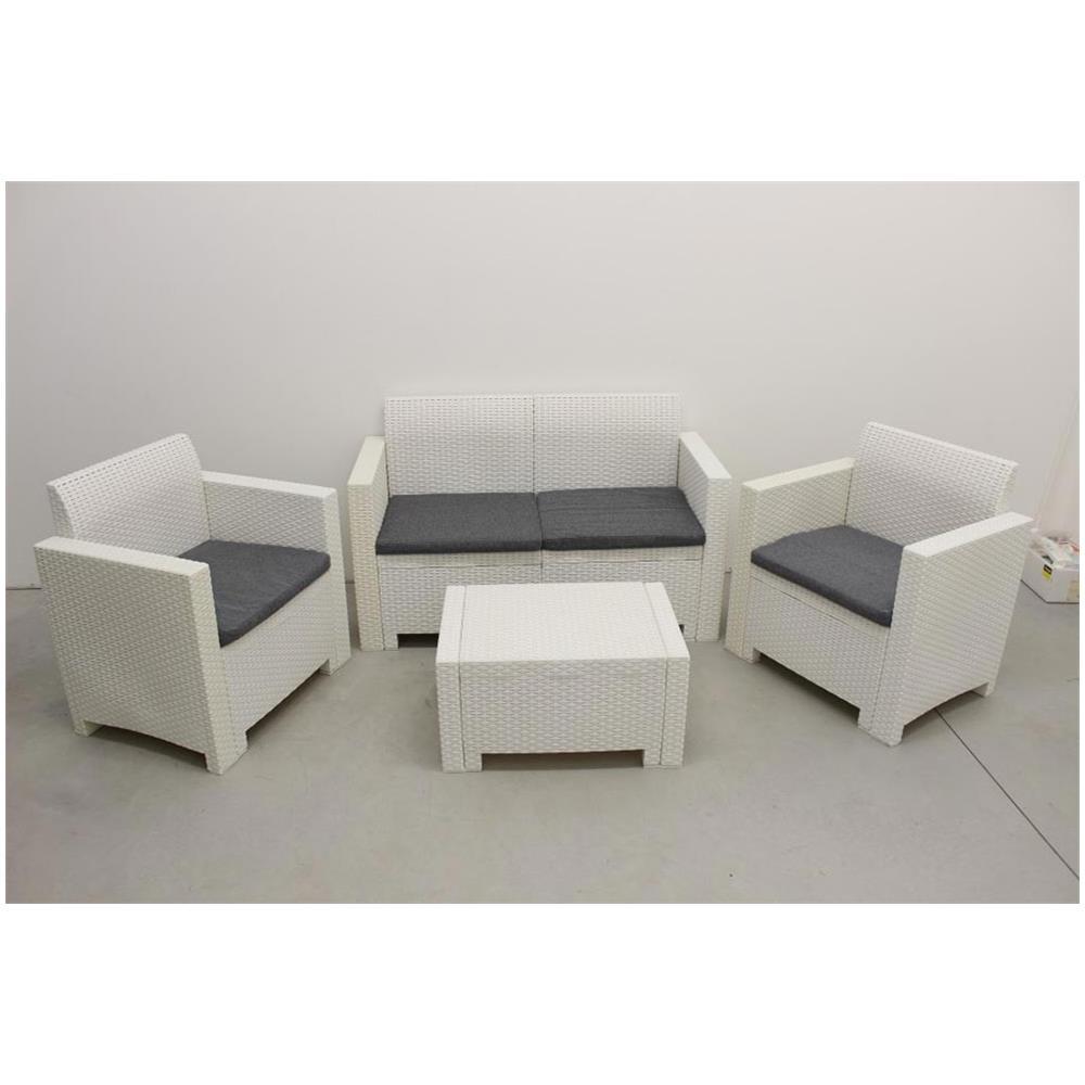 Salotto Rattan Sintetico Bianco.Arredamento Da Giardino Divani Salotto Da Giardino Set 2 Posti