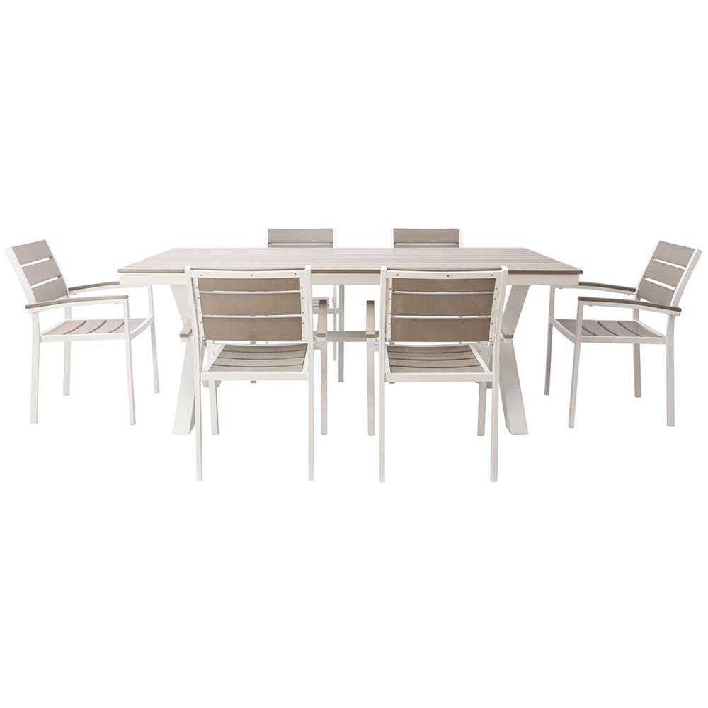 Tavolo Con 6 Sedie In Legno.Miliboo Salotto Da Giardino Con Tavolo E 6 Sedie In Metallo