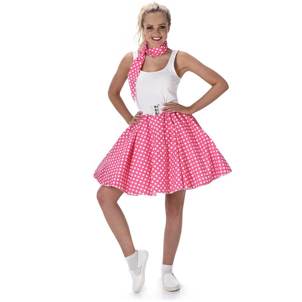 newest collection af23e 6944f JADEO Costume Rosa A Pois Anni '50 Da Donna Medium
