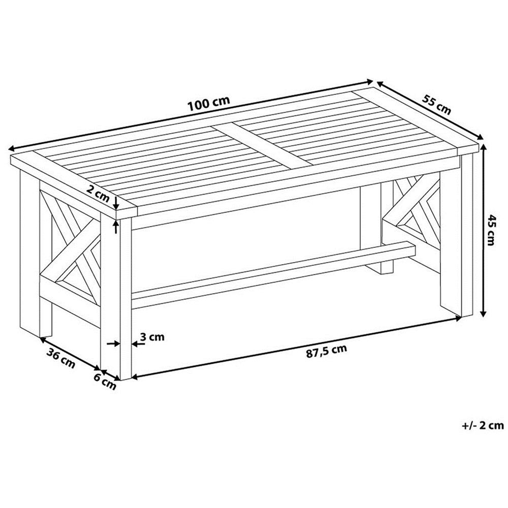Tavolo Da Giardino Legno Bianco.Beliani Tavolo Da Giardino In Legno Bianco 100 X 55 Cm Baltic Eprice