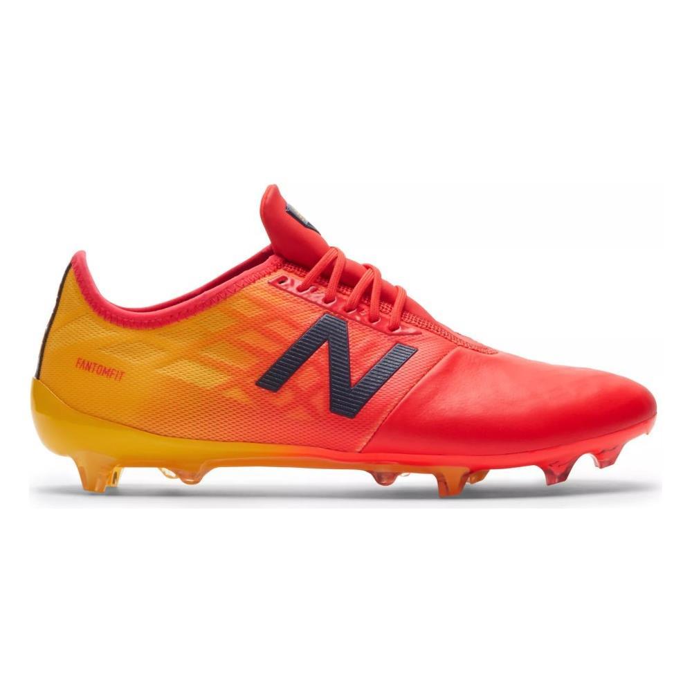 NEW BALANCE Scarpe Calcio New Balance Furon 4.0 Pro Leather Fg Taglia 9,5 Colore: Rosso giallo