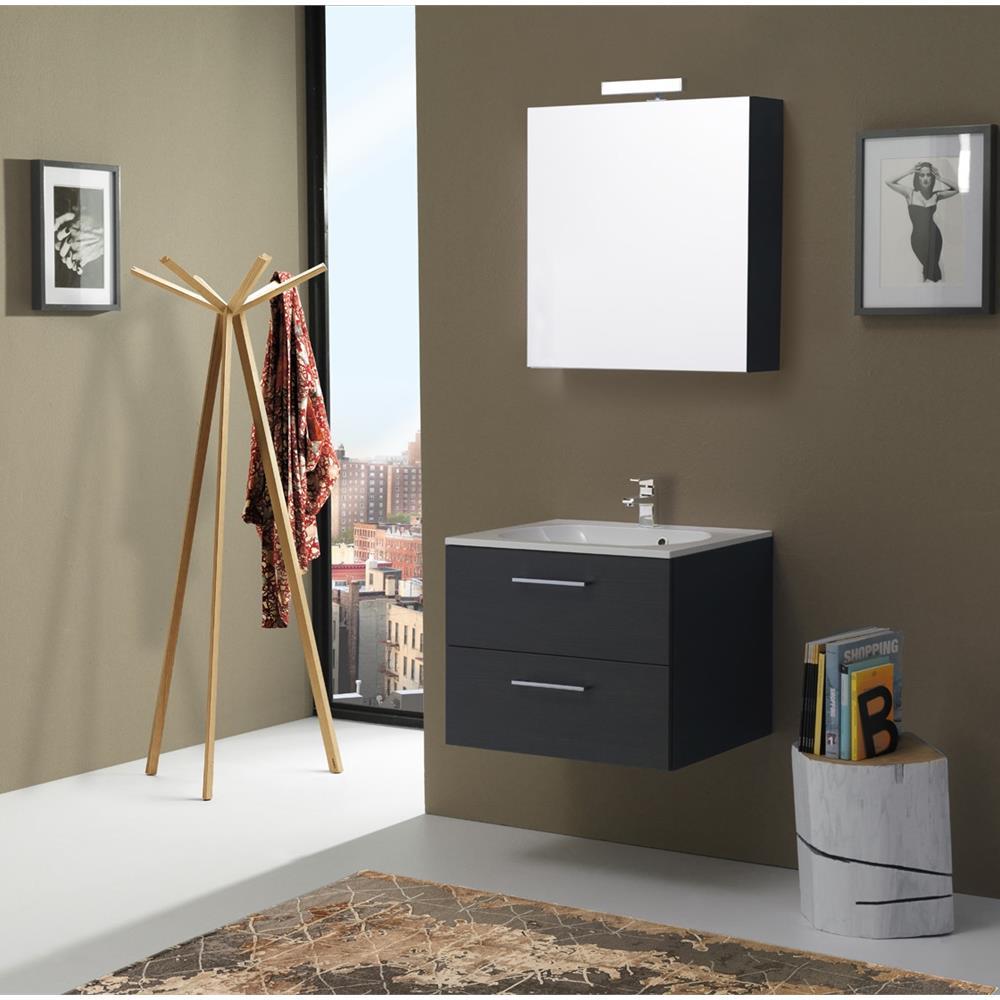 kiamami valentina mobile bagno da 60 cm con cassetti boston in tanner eprice. Black Bedroom Furniture Sets. Home Design Ideas