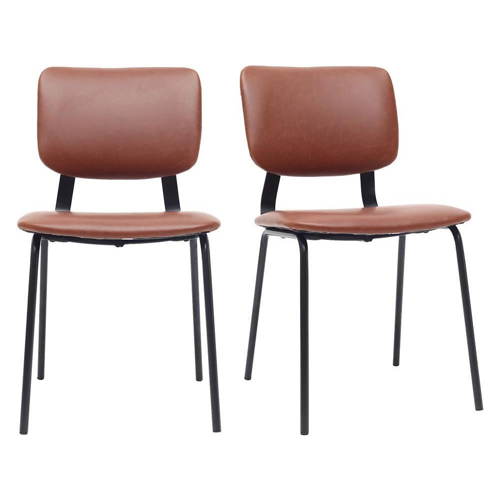 Sedie A Forma Di Sedere Costo miliboo sedie vintage marrone chiaro piedi in metallo (lotto di 2) lab