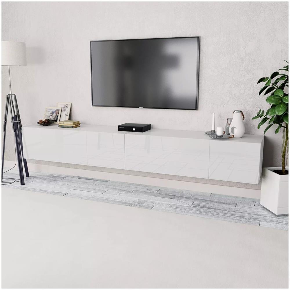 UnfadeMemory Mobile Porta TV Con 3 Cassetti Nero Lucido 120x34x30 cm in Truciolato