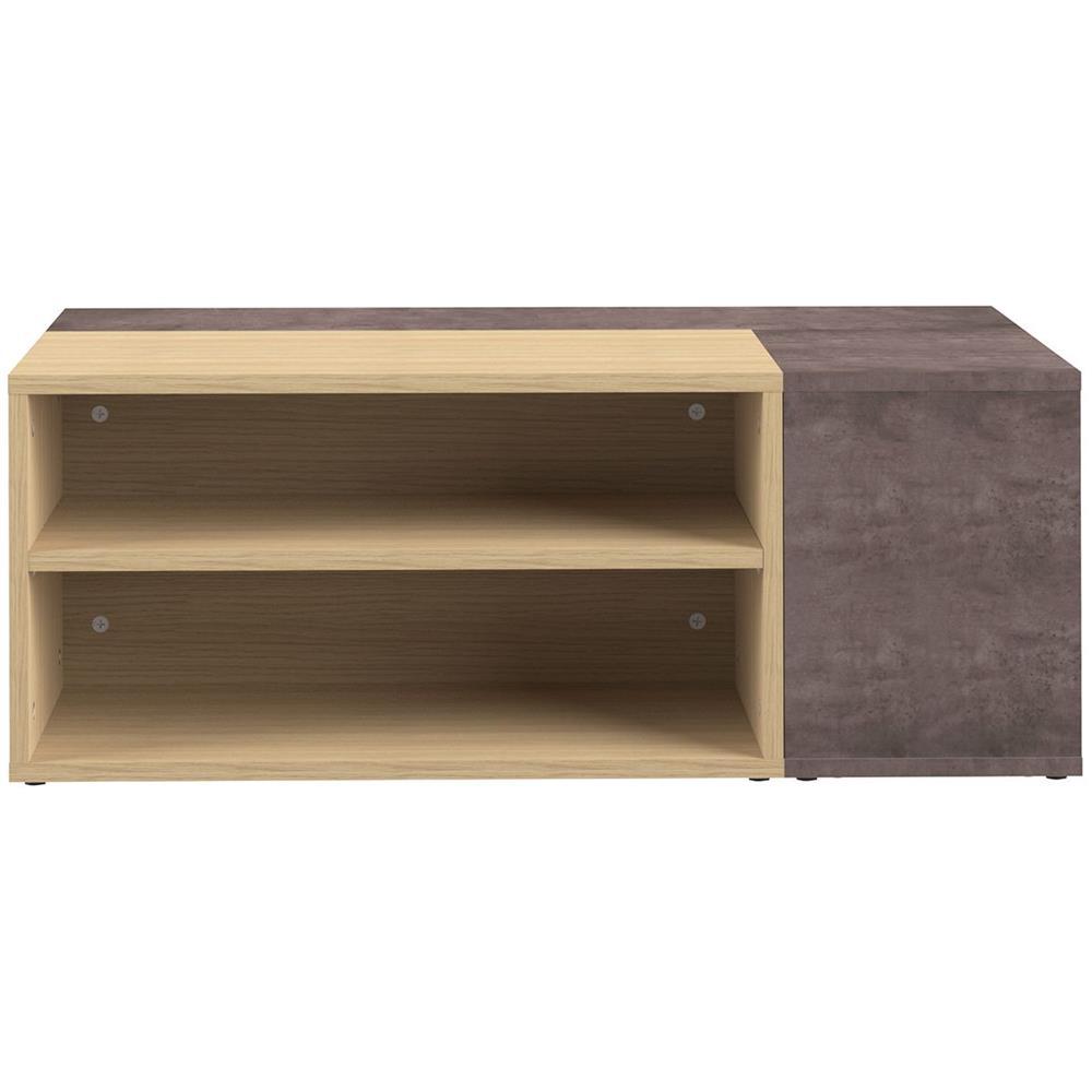 Tavolino Basso Design.Miliboo Tavolino Basso Design Legno E Grigio Cemento Amovibile Quadra