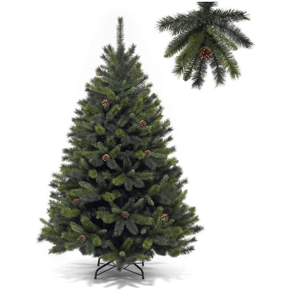 Albero Di Natale Con Pigne.Star Christmas Albero Di Natale Finlandia 180cm Con 601 Rami E Pigne Eprice