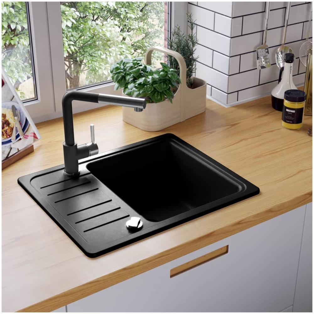 Lavello Cucina Una Vasca Grande impianti per la cucina vidaxl lavello da cucina granito