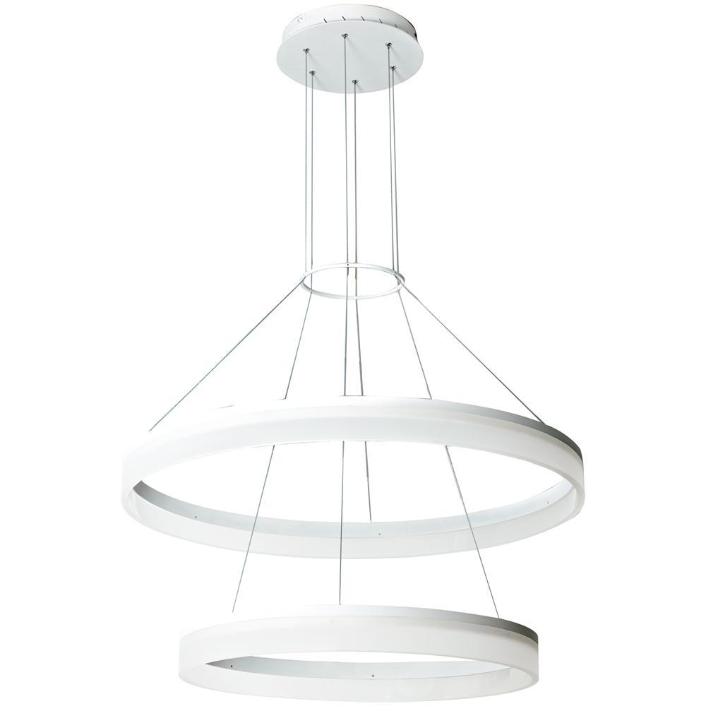 Lampadario Con Strisce Led gt luce led-saturn-s80 - lampadario con anello bianco sospeso luce led 45  watt