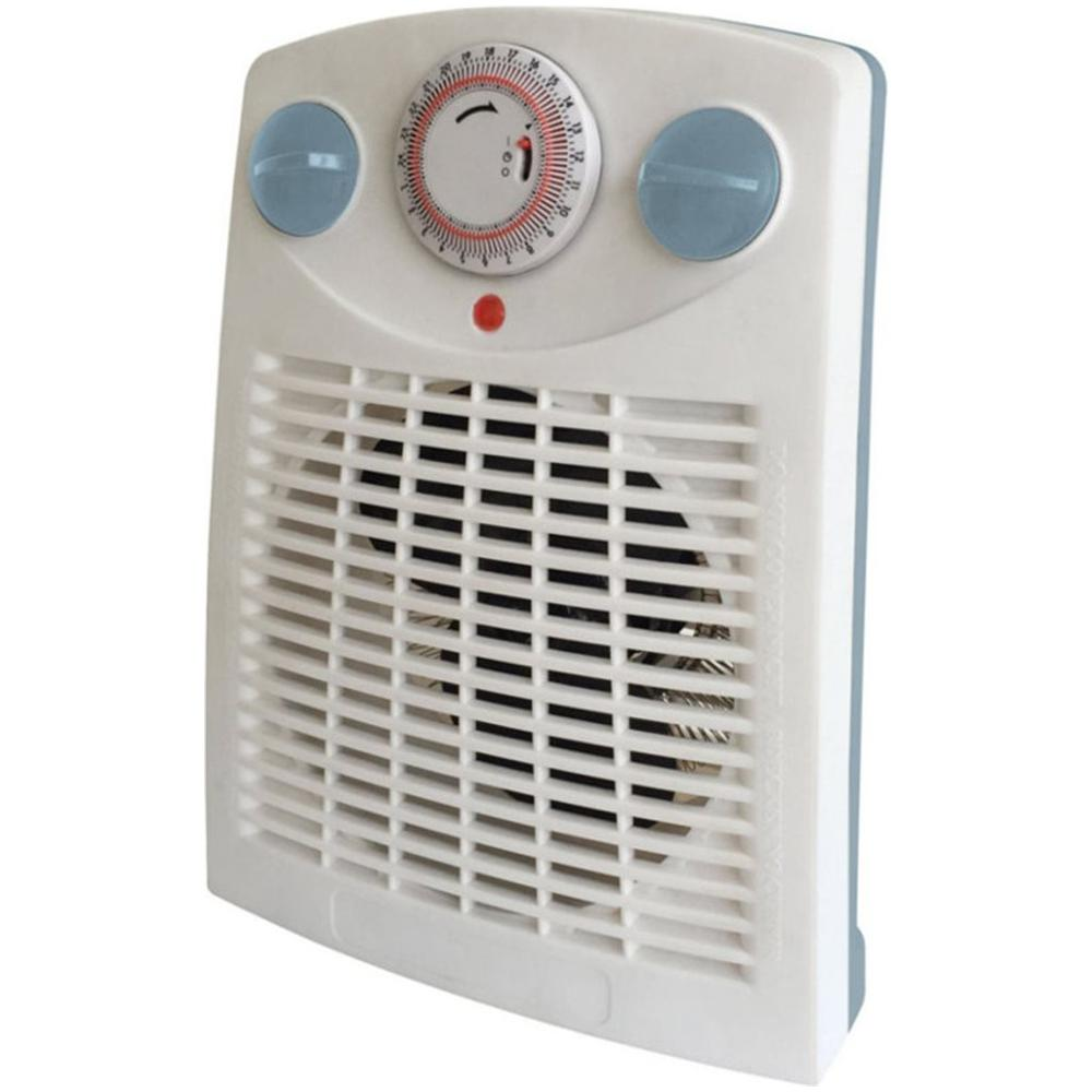 449TI Termoventilatore Elettrico Caldobagno Potenza 2000 Watt con Termostato e Timer