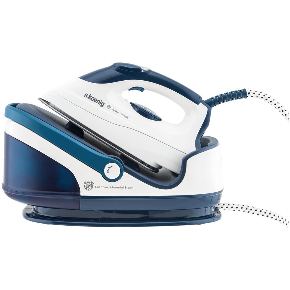 VIX7 Ferro da Stiro con Caldaia Potenza 2400 Watt Colore Bianco / Blu