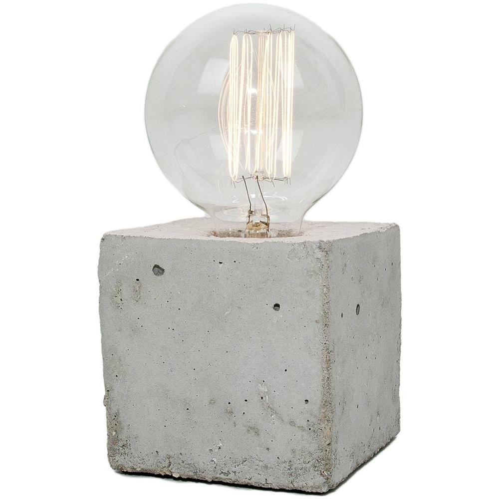 V Tac Lampada Da Tavolo In Cemento Di Forma Cubica Con Attacco E27 Eprice