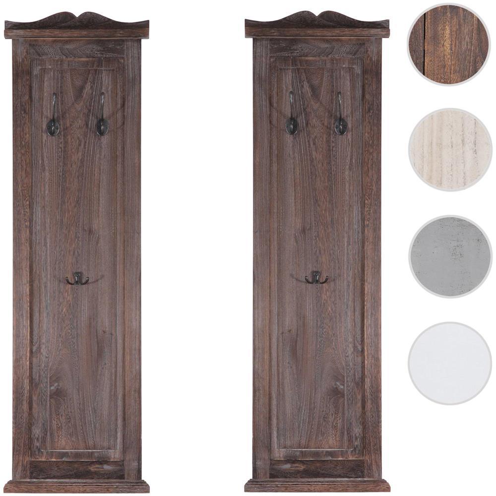 Appendiabiti Su Misura mendler serie vintage set 2x appendiabiti attaccapanni legno paulonia  6x28x109cm marrone