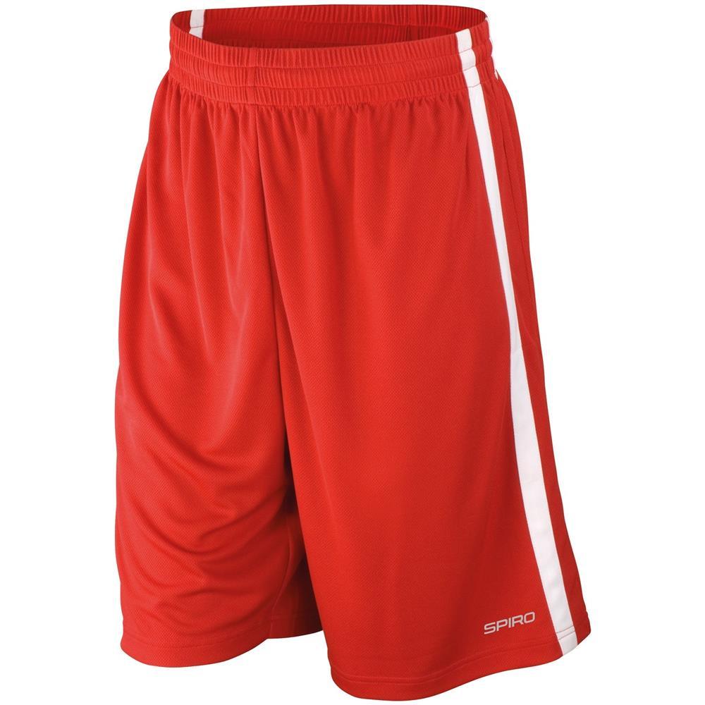 Spiro - Pantaloni Corti Da Basket Uomo (s) (rosso   bianco) - ePRICE f06ccea3fa75
