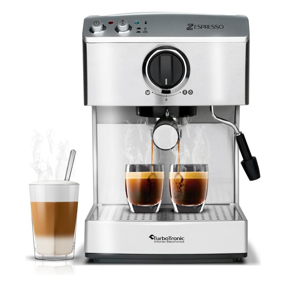Turbotronic - Macchina Per Caffè Macinato E Cappuccino 15bar 1250w ...