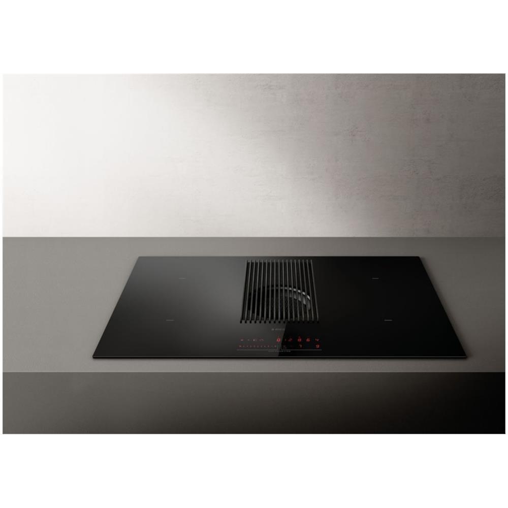 Piano Cottura Elica Prezzo elica piano cottura prime bl / a / 80 a induzione 4 zone cottura da 83 cm  con cappa aspirante integrata colore nero