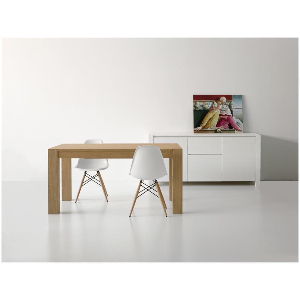 Tavolo Legno Rovere Naturale.Mobili 2g Tavolo Di Design Allungabile In Legno Rovere Naturale